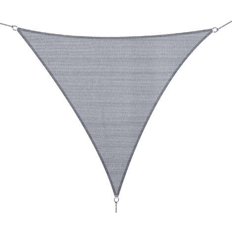 Outsunny® Sonnensegel (grau) Sonnenschutz Dreieck HDPE(3x3x3m)