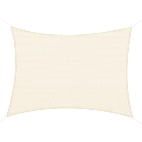 Outsunny® Sonnensegel - Maße: 4x6m   Farbe: Creme   Stoffe: 185g/m² HDPE