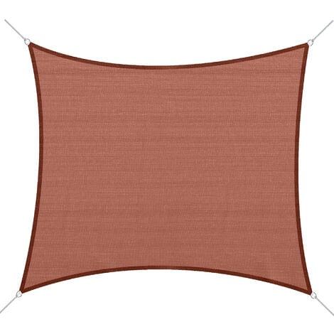 Outsunny® Sonnensegel Rostrot Rechteck/3x4 m HDPE
