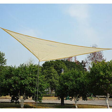Outsunny® Sonnensegel Sonnendach (6x6x6 m) Dreiecke Cream HDPE - atmungsaktiv