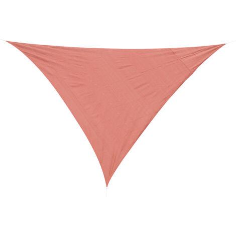 Outsunny® Sonnensegel Sonnendach Dreieck Sonnenschutz HDPE (Rot, 4x4x4m)