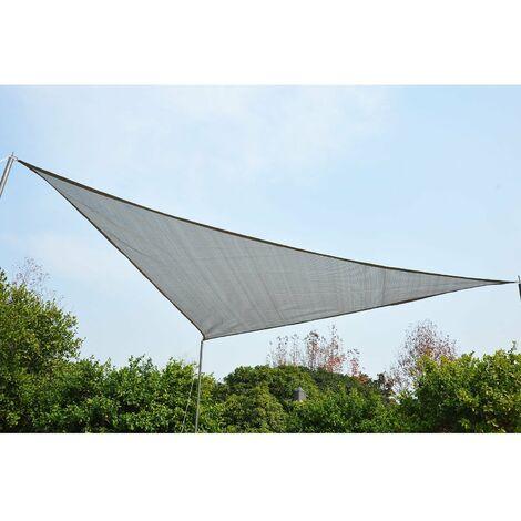 Outsunny® Sonnensegel Sonnendach Sonnenschutz Dreiecke Grau 6x6x6m HDPE - atmungsaktiv