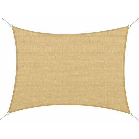 Outsunny® Sonnensegel Sonnenschutz - 4x6m | Sand | Stoffe: 185g/m² HDPE