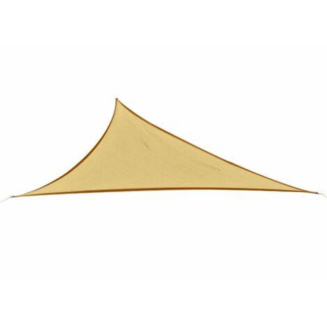 Outsunny® Sonnensegel Sonnenschutz Dreieck Sand 5x5x5 m HDPE - atmungsaktiv