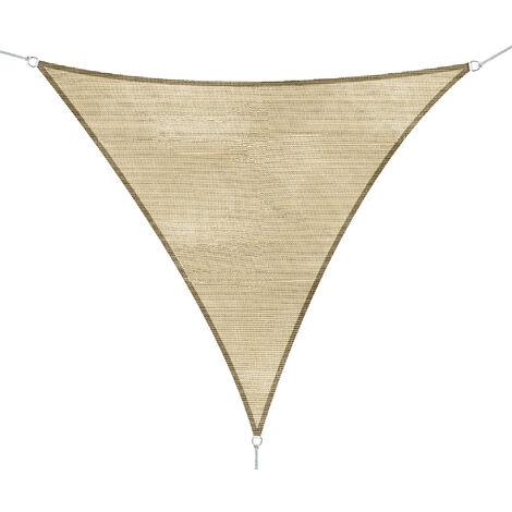 Outsunny Sonnensegel Sonnenschutz Dreiecke 3x3x3 m HDPE - atmungsaktiv sand