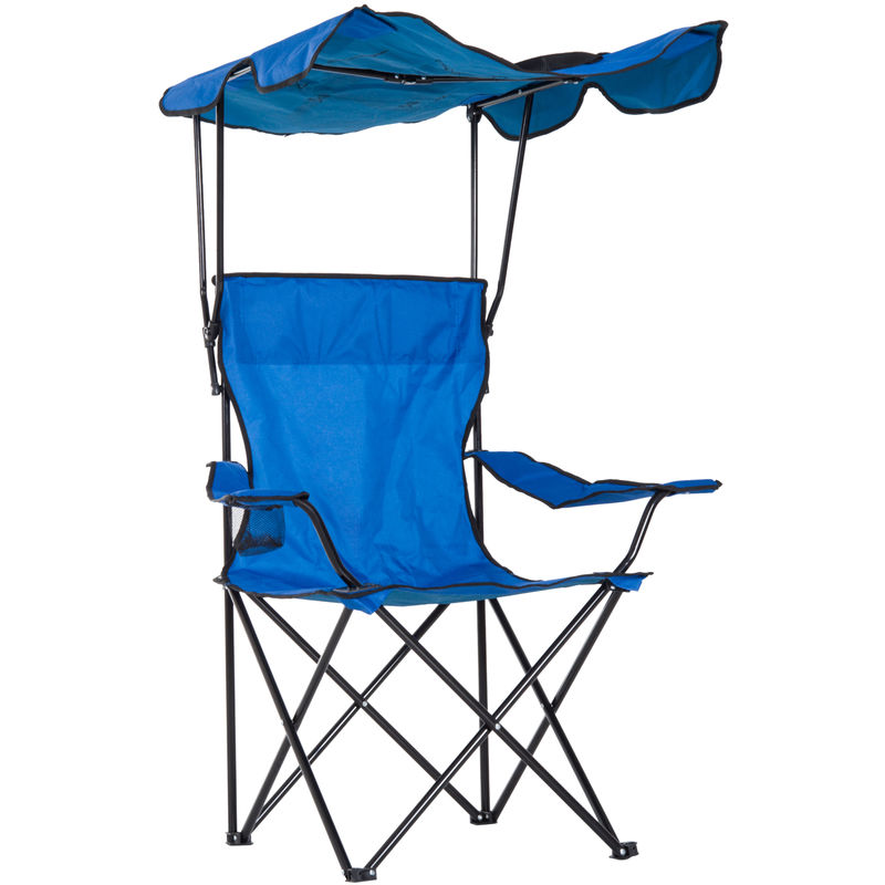 Brilliant Outsunny Steel Folding Camping Chair Backpacking Seat Portable Lightweight Blue Pabps2019 Chair Design Images Pabps2019Com