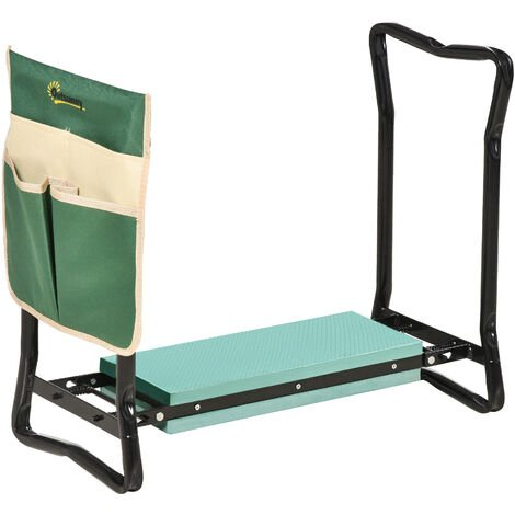 """main image of """"Outsunny Steel Frame Garden Kneeler Seat Duo Foam Bag Tool Bag Pouch Foldable"""""""