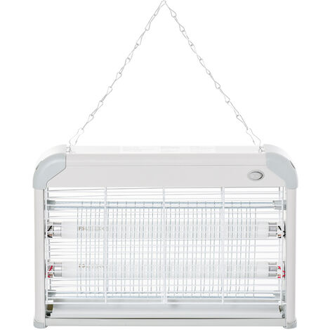 Outsunny Steel LED Mosquito Killer Lamp Electric Insect Catcher Fly Zapper - Grey