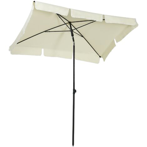 Outsunny Sun Umbrella Parasol Patio Rectangular Tilt - 2 x 1.25m