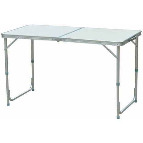 Tavolo In Alluminio Da Campeggio.Outsunny Tavolo Da Campeggio Pieghevole In Mdf E Alluminio 120x60x70cm