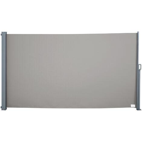Outsunny Tenda da Sole Laterale e Avvolgibile Protezione Vento/Privacy 3x1.6m Grigio
