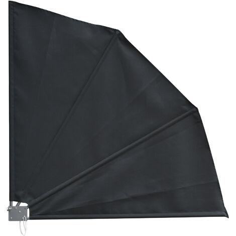 Outsunny Toldo Lateral Plegable de Balcón en Forma de Abanico Aluminio 120x120 cm Gris - Gris Oscuro