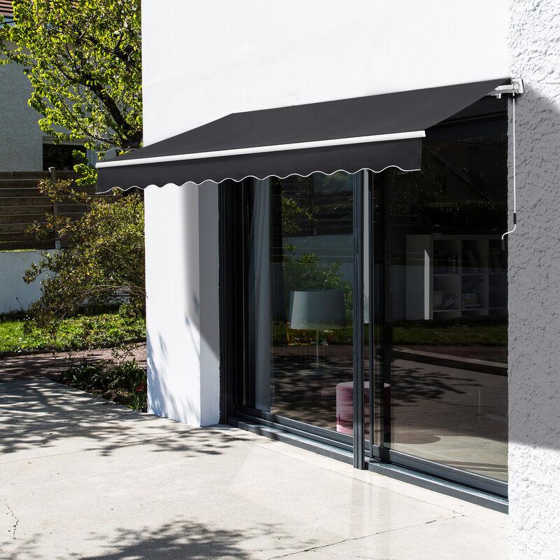 Outsunny Toldo Manual Plegable De Aluminio Toldo Balcón