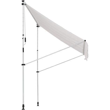Outsunny Toldo Portátil Porches o Balcones con Manivela Ajustable 200x150x170-280cm