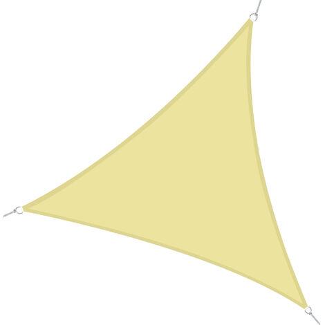 Outsunny Toldo Vela Sombrilla Parasol Triangulo Tejido de Poliester 160g/m2 Jardin Playa