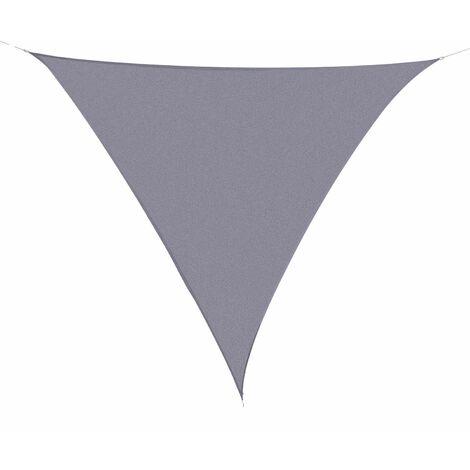 Outsunny Toldo Vela Sombrilla Parasol Triangulo Tejido de Poliester 160g/m2 Jardin Playa - gris
