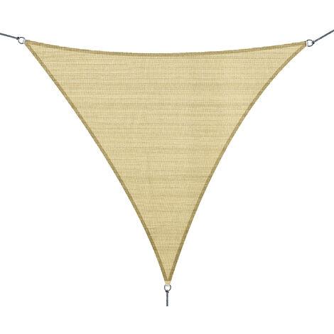 Outsunny Toldo Vela Sombrilla Parasol Triangulo Tejido de Poliester 185 g/m² Jardín Playa