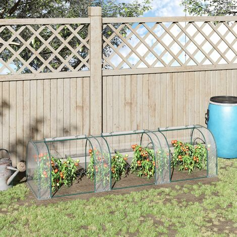 """main image of """"Outsunny Transparent PVC Greenhouse Steel Frame 300L x 100W x 80H (cm)"""""""