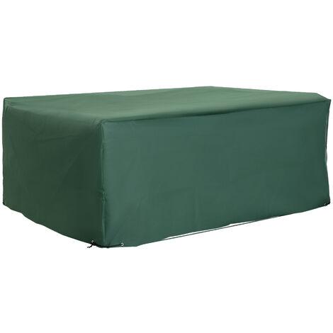 """main image of """"Outsunny UV Rain Protective Rattan Furniture Cover for Wicker Rattan Garden 210x140x80cm"""""""