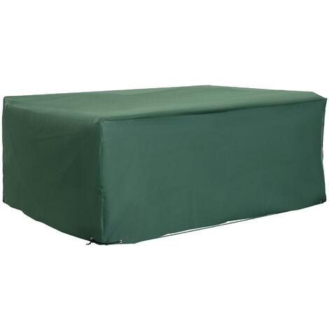 """main image of """"Outsunny UV Rain Protective Rattan Furniture Cover for Wicker Rattan Garden 245x165x55cm"""""""