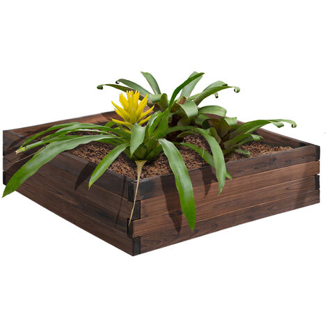 Outsunny Wooden Raised Garden Bed Planter Grow Containers Outdoor Patio