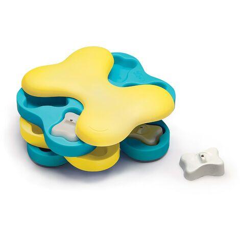Outward Hound Dog Activity Strategy Game Nina Ottosson Dog Tornado Yellow and Blue
