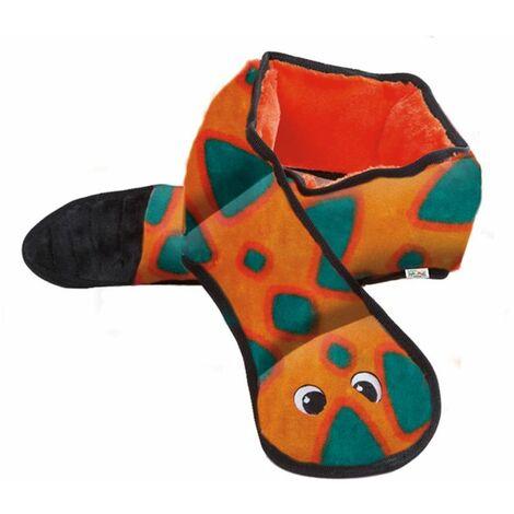 Outward Hound Serpiente juego de perro Invincibles 6 pito naranja 2584