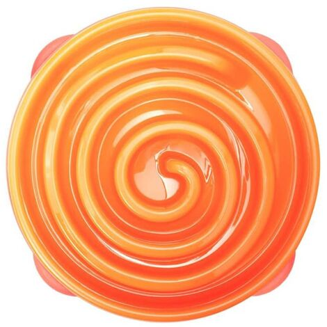 Outward Hound Slow Feeder for Dogs Slo Bowl Coral Orange 1577