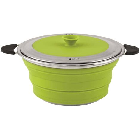 Outwell Collapsible Pot with Lid 2.5L M Lime Green 650628