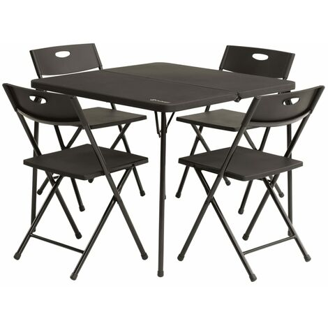 Outwell Klappbares Picknicktisch-Set Corda Schwarz