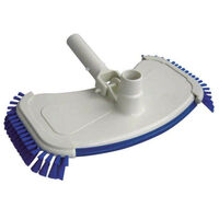 Oval brush broom head with brush for cleaning the pool