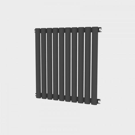 Oval Column Anthracite Horizontal Single Panel Designer Radiator