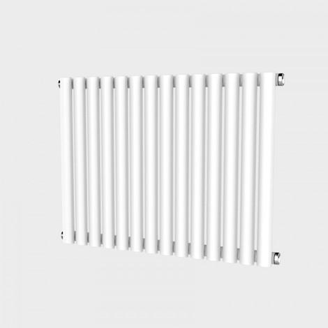Oval Column White Horizontal Single Panel Designer Designer Radiator
