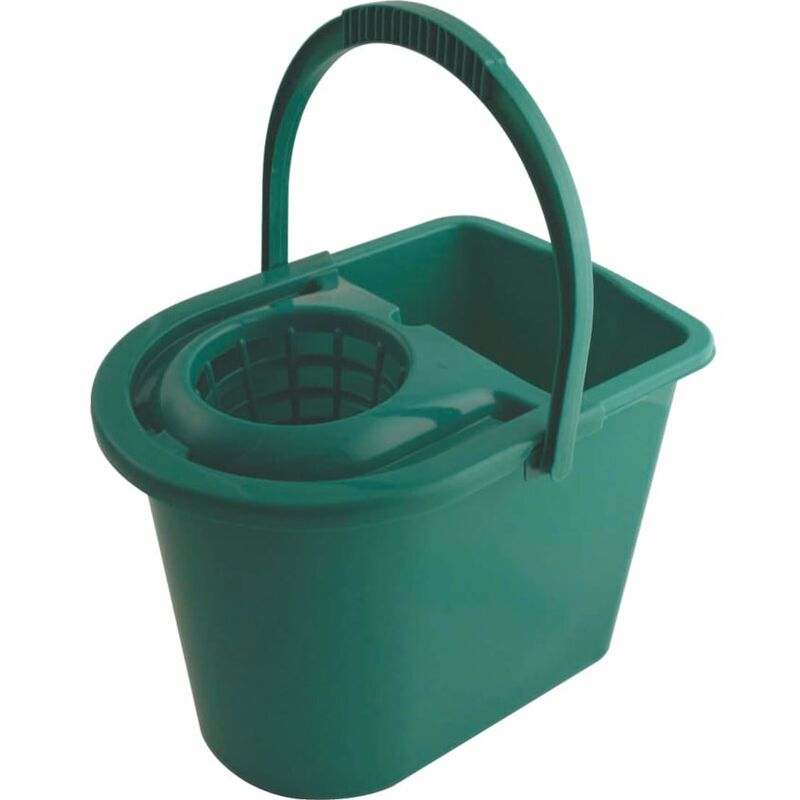 Image of 15LTR Plastic Mop Bucket Green - Cotswold
