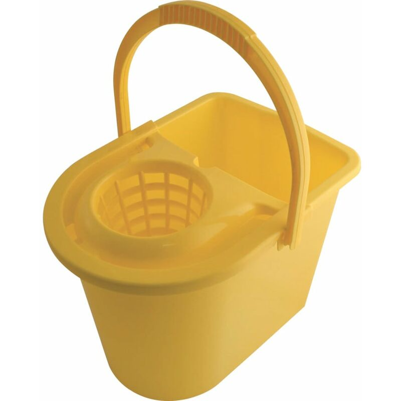 Image of 15LTR Plastic Mop Bucket Yellow - Cotswold