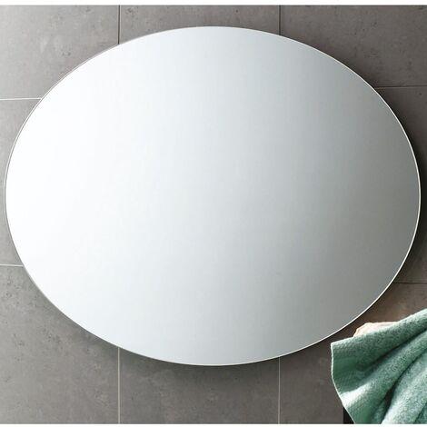 Oval Polished Edge Bathroom Mirror 550mm x 750mm Wall Mounted Stylish Versatile