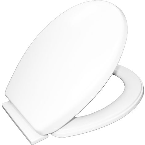 Oval Shaped White Soft Close Toilet Seat Light Weight Comfort Bottom Fix with Fittings Easy Clean Antibacterial