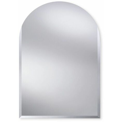 Oval Top Bevelled Edge Bathroom Mirror 400mm x 600mm Wall Mounted Stylish