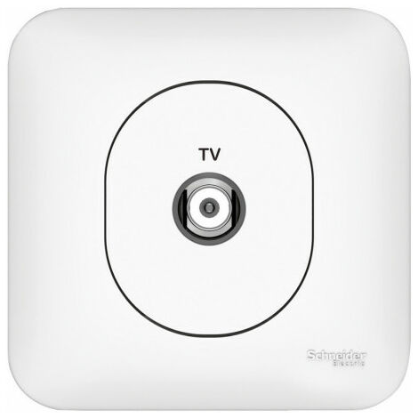 """main image of """"Ovalis Prise TV simple, Schneider Electric réf. S262405"""""""