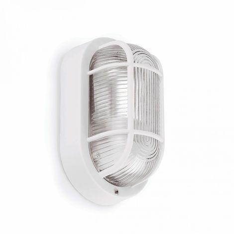 Ovalo-B Aplique Estanco 18 Blanco 1L E27 60W