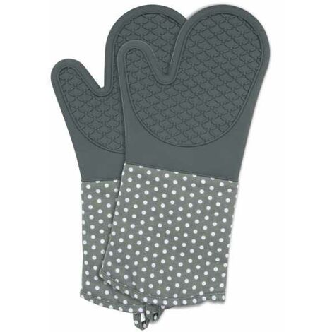 Oven gloves Silicone Grey WENKO