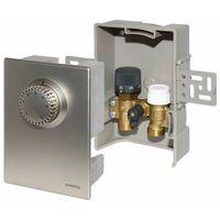 Oventrop Einzelraumregelung Unibox E plus mit Thermostat und RTL Ventil 1022673 Edelstahl-Design