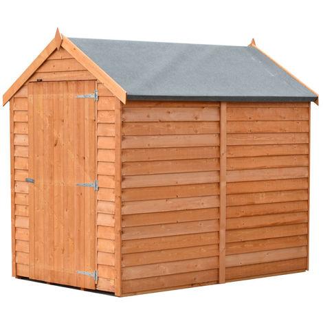 Overlap 6' x 4' Dip Treated Value Range Apex Shed Single Door