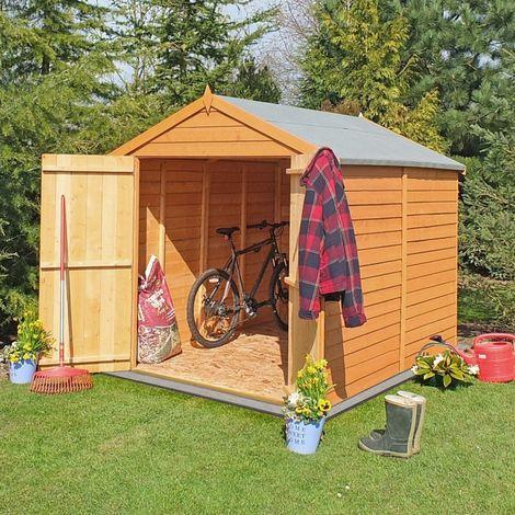Overlap Double Door Garden Shed - Dip Treated Approx 6 x 6 Feet