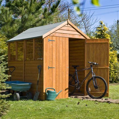 Overlap Double Door W Garden Shed - Dip Treated Approx 7 x 5 Feet