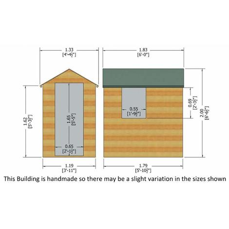 Overlap Shed 6 x 4