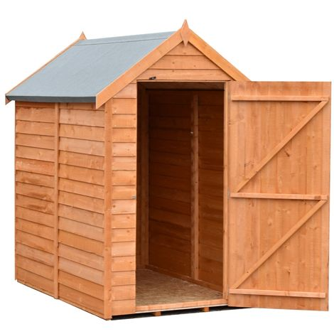 Overlap W Garden Shed - Dip Treated Approx 6 x 4 Feet