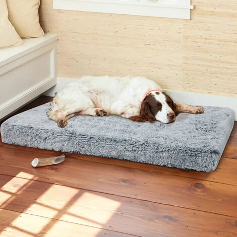 Oversize Orthopedic Dog Bed Long Plush Memory Foam Mattress Crate Support Mat, different size available
