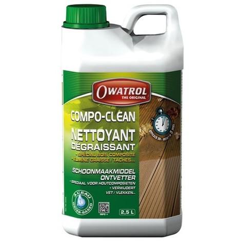 OWATROL - Nettoyant dégraissant bois composite Compo-clean - 2.5 L