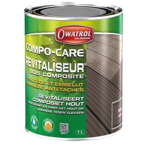 OWATROL - Revitaliseur bois composite Compo-care - brun - 1 L